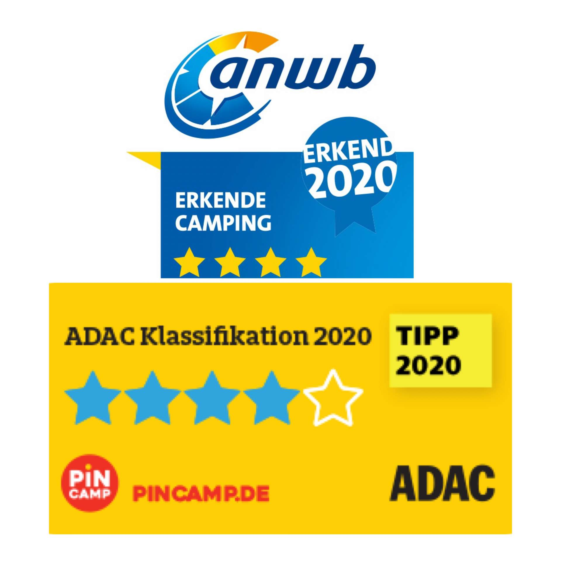 ADAC and ANWB gave us 4 stars and a TIP!