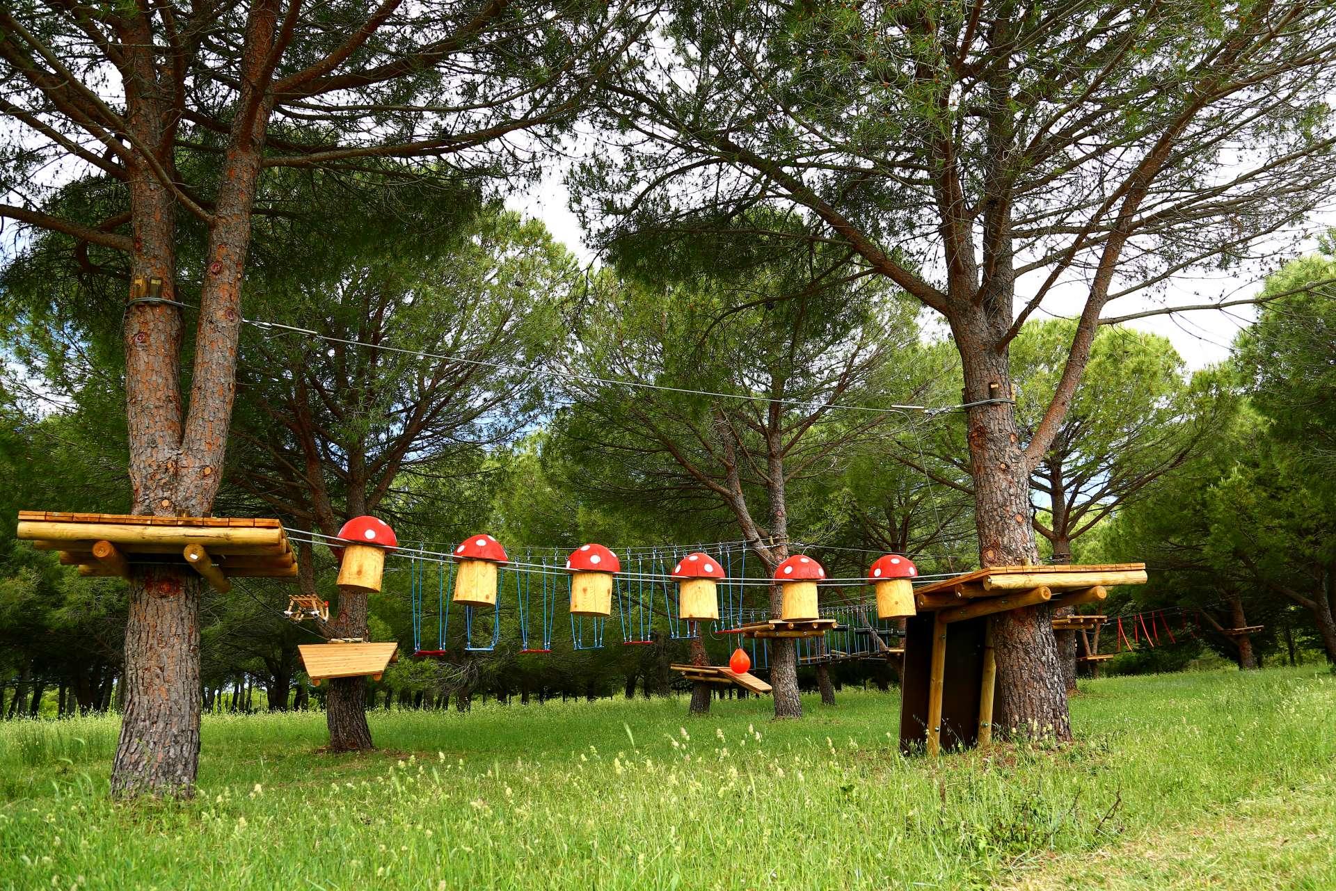 Adrenalinpark direkt neben dem Campingplatz